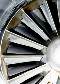Aerospace and defense - turbine closeup