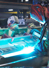 Welder working in manufacturing plant in Cadiz